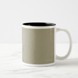 Topographic Map of Colorado Two-Tone Coffee Mug