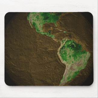 Topographic Map of Earth Mousepads