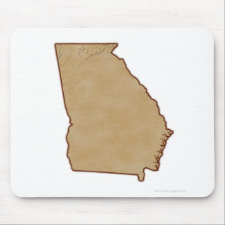 Topographic Map of Georgia Mouse Pad