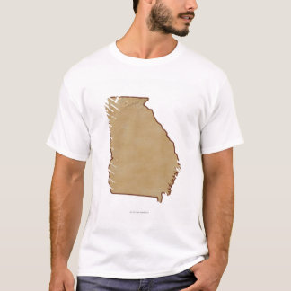 Topographic Map of Georgia T-Shirt