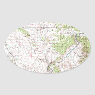 Topographic Map Oval Sticker