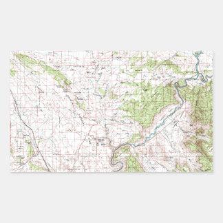 Topographic Map Rectangular Stickers