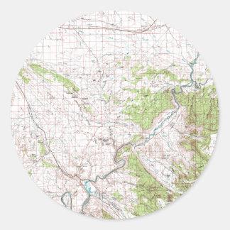 Topographic Map Round Sticker