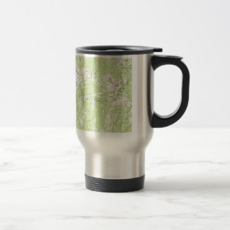 Topographic Map Stainless Steel Travel Mug