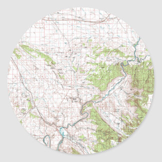Topographic Map Classic Round Sticker