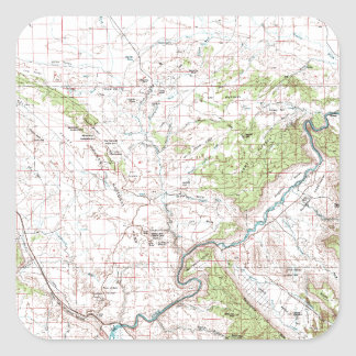 Topographic Map Square Sticker