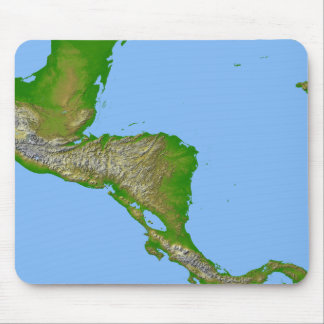 Topographic view of Central America Mousepads