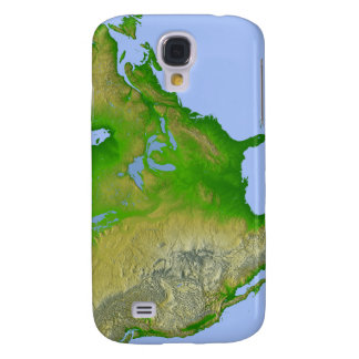 Topographic view of North America Galaxy S4 Case