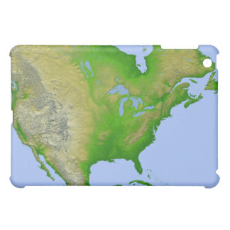 Topographic view of North America iPad Mini Covers