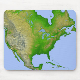 Topographic view of North America Mouse Mat