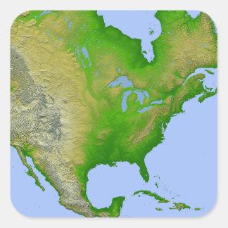 Topographic view of North America Sticker