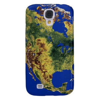 Topographic View of North and Central America Galaxy S4 Case