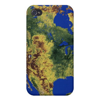 Topographic View of North and Central America iPhone 4 Cover