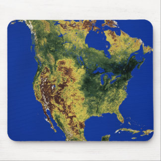 Topographic View of North and Central America Mouse Mat