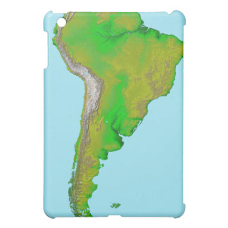 Topographic view of South America Cover For The iPad Mini