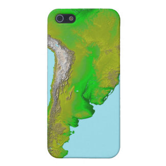 Topographic view of South America iPhone 5 Cases