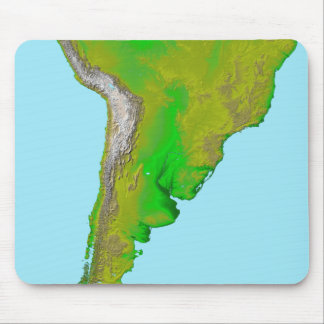 Topographic view of South America Mouse Mat