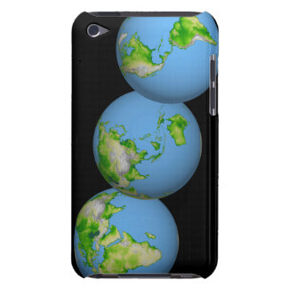 Topographic views of the world iPod touch cases