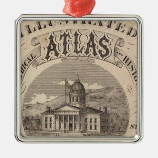 Topographical atlas christmas ornament