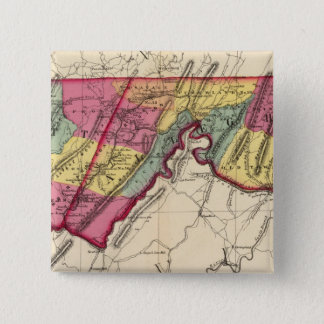 Topographical atlas of Maryland counties 15 Cm Square Badge