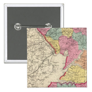 Topographical atlas of Maryland counties 2 15 Cm Square Badge