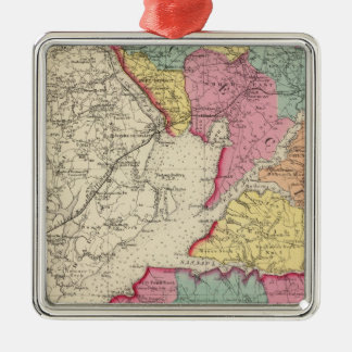 Topographical atlas of Maryland counties 2 Christmas Ornament