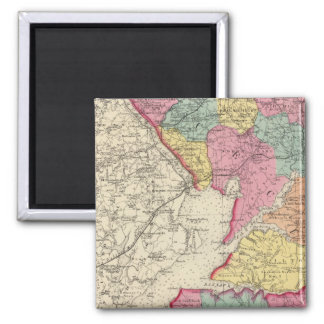Topographical atlas of Maryland counties 2 Refrigerator Magnets