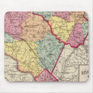 Topographical atlas of Maryland counties 2 Mouse Pad
