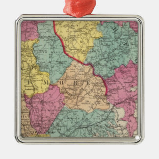Topographical atlas of Maryland counties 3 Christmas Ornament