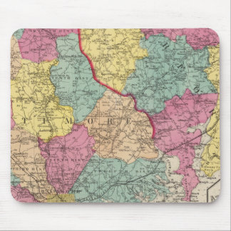 Topographical atlas of Maryland counties 3 Mouse Mat