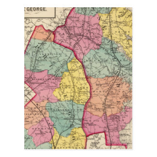 Topographical atlas of Maryland counties 4 Postcard