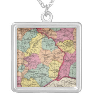 Topographical atlas of Maryland counties 5 Silver Plated Necklace