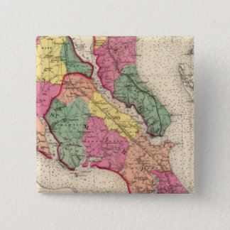 Topographical atlas of Maryland counties 6 15 Cm Square Badge