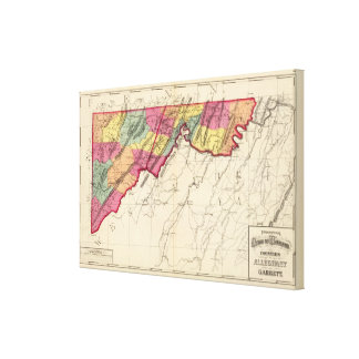 Topographical atlas of Maryland counties Canvas Print