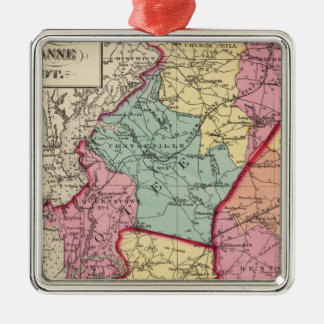 Topographical atlas of Maryland counties Christmas Ornament
