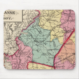Topographical atlas of Maryland counties Mouse Mat