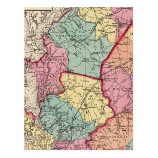 Topographical atlas of Maryland counties Postcard