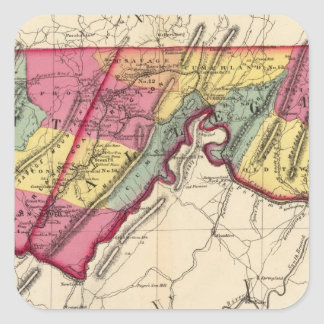 Topographical atlas of Maryland counties Square Sticker