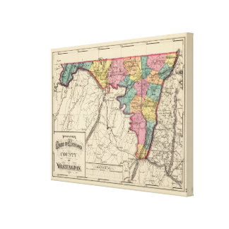 Topographical atlas of Maryland County Canvas Print