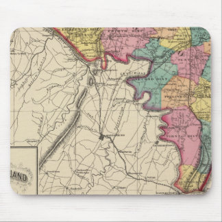 Topographical atlas of Maryland County Mouse Mat