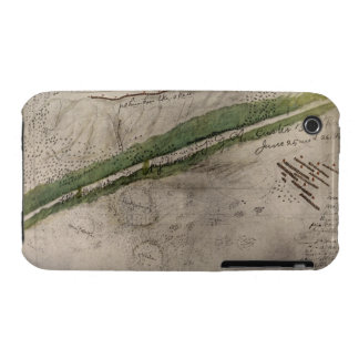 Topographical chart of the battlefield of the Litt iPhone 3 Case-Mate Cases