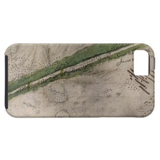Topographical chart of the battlefield of the Litt iPhone 5 Covers