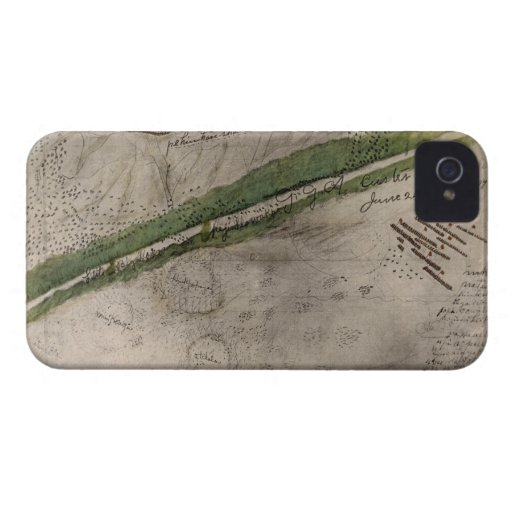 Topographical chart of the battlefield of the Litt iPhone 4 Case-Mate Case