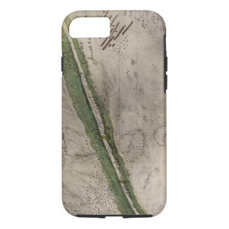 Topographical chart of the battlefield of the Litt iPhone 7 Case