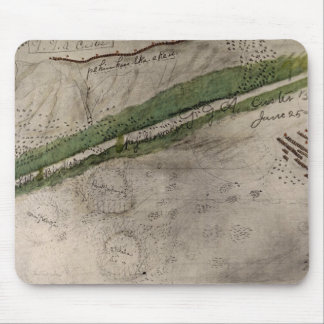Topographical chart of the battlefield of the Litt Mouse Pad