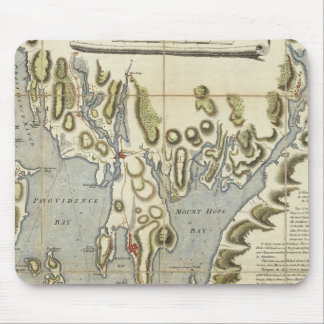 Topographical Chart of the Bay of Narraganset Mouse Mat