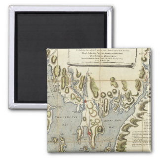Topographical Chart of the Bay of Narraganset Square Magnet