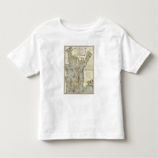 Topographical Chart of the Bay of Narraganset Tshirt