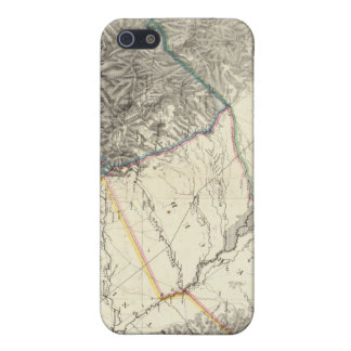 Topographical Map of Central California iPhone 5 Case