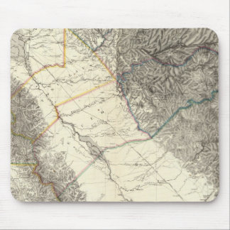 Topographical Map of Central California Mouse Pads
